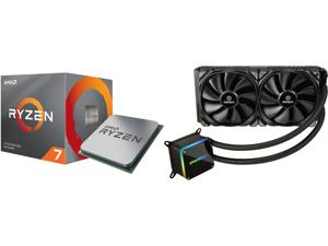 AMD RYZEN 7 3700X 8-Core 3.6 GHz (4.4 GHz Max Boost) Socket AM4 65W 100-100000071BOX Desktop Processor and Enermax LIQTECH II 280 Addressable RGB All-in-one CPU Liquid Cooler for AM4 / LGA1200 280mm Radiator Dual-Chamber RGB Pump T.B. Press