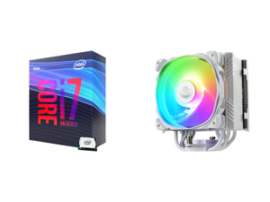 Intel Core i7-9700K Coffee Lake 8-Core 3.6 GHz (4.9 GHz Turbo) LGA 1151 (300 Series) 95W BX80684I79700K Desktop Processor Intel UHD Graphics 630 and Enermax ETS-T50 Axe Addressable RGB CPU Air Cooler 230W+ TDP for Intel/AMD Univeral Socket
