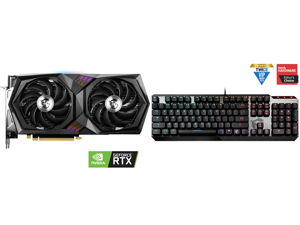 MSI GeForce RTX 3060 DirectX 12 Ultimate RTX 3060 Gaming X 12G 12GB 192-Bit GDDR6 PCI Express 4.0 HDCP Ready Video Card and MSI Vigor GK50 Low Profile Gaming Keyboard