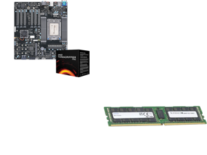Supermicro AMD Motherboard/CPU Bundle - M12SWA-TF Workstation Motherboard Installed with AMD Ryzen Threadripper PRO 3955WX CPU 16-Core/32-Thread Processor - Integrated by Supermicro and Supermicro (M393A8G40AB2-CWE) 64GB SDRAM ECC Registere