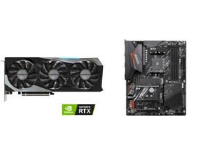 GIGABYTE GeForce RTX 3060 Ti GAMING PRO 8G Graphics Card 3 x WINDFORCE Fans 8GB 256-bit GDDR6 GV-N306TGAMING PRO-8GD Video Card and GIGABYTE B550 AORUS ELITE AM4 AMD B550 ATX Motherboard with Dual M.2 SATA 6Gb/s USB 3.2 Gen 2 2.5 GbE LAN PC