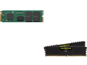 Intel 670p Series M.2 2280 1TB PCIe NVMe 3.0 x4 QLC Internal Solid State Drive (SSD) SSDPEKNU010TZX1 and CORSAIR Vengeance LPX 32GB (2 x 16GB) 288-Pin DDR4 SDRAM DDR4 3200 (PC4 25600) Intel XMP 2.0 Desktop Memory Model CMK32GX4M2E3200C16