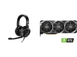 MSI Immerse GH30 V2 3.5mm Connector Circumaural Headset and MSI GeForce RTX 3070 DirectX 12 RTX 3070 VENTUS 3X OC 8GB 256-Bit GDDR6 PCI Express 4.0 HDCP Ready Video Card