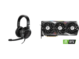 MSI Immerse GH30 V2 3.5mm Connector Circumaural Headset and MSI GeForce RTX 3070 DirectX 12 RTX 3070 GAMING X TRIO 8GB 256-Bit GDDR6 PCI Express 4.0 HDCP Ready Video Card