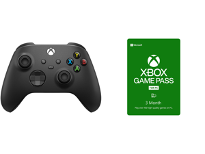 Xbox Core Controller - Carbon Black and Xbox Game Pass for PC 3 Month Membership US [Digital Code]