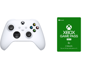 Xbox Core Controller - Robot White and Xbox Game Pass for PC 3 Month Membership US [Digital Code]