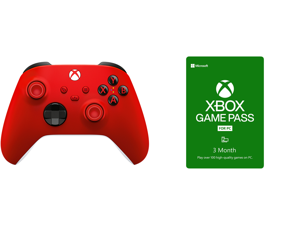 Xbox Wireless Controller - Pulse Red and Xbox Game Pass for PC 3 Month Membership US [Digital Code]