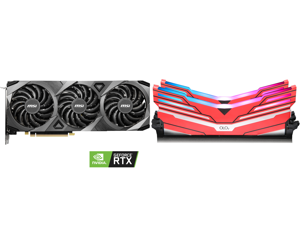 MSI GeForce RTX 3070 DirectX 12 RTX 3070 VENTUS 3X OC 8GB 256-Bit GDDR6 PCI Express 4.0 HDCP Ready Video Card and OLOy WarHawk RGB DDR4 3600 (PC4 28800) 16GB (2 x 8GB) 288-Pin Intel/AMD Ready Desktop Memory Model MD4U083618BCDA