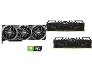 MSI GeForce RTX 3070 DirectX 12 RTX 3070 VENTUS 3X OC 8GB 256-Bit GDDR6 PCI Express 4.0 HDCP Ready Video Card and OLOy 16GB (2 x 8GB) 288-Pin DDR4 SDRAM DDR4 4000 (PC4 32000) Desktop Memory Model MD4U0840180BJ0DA