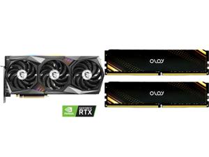 MSI GeForce RTX 3070 DirectX 12 RTX 3070 GAMING X TRIO 8GB 256-Bit GDDR6 PCI Express 4.0 HDCP Ready Video Card and OLOy 16GB (2 x 8GB) 288-Pin DDR4 SDRAM DDR4 3200 (PC4 25600) Desktop Memory Model ND4U0832160BB1DA