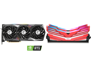 MSI GeForce RTX 3070 DirectX 12 RTX 3070 GAMING X TRIO 8GB 256-Bit GDDR6 PCI Express 4.0 HDCP Ready Video Card and OLOy WarHawk RGB DDR4 3600 (PC4 28800) 16GB (2 x 8GB) 288-Pin Intel/AMD Ready Desktop Memory Model MD4U083618BCDA