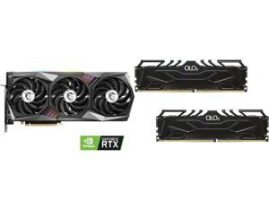 MSI GeForce RTX 3070 DirectX 12 RTX 3070 GAMING X TRIO 8GB 256-Bit GDDR6 PCI Express 4.0 HDCP Ready Video Card and OLOy 16GB (2 x 8GB) 288-Pin DDR4 SDRAM DDR4 4000 (PC4 32000) Desktop Memory Model MD4U0840180BJ0DA