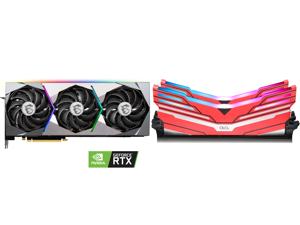 MSI GeForce RTX 3080 DirectX 12 Ultimate RTX 3080 SUPRIM 10G 10GB 320-Bit GDDR6X PCI Express 4.0 HDCP Ready Video Card and OLOy WarHawk RGB DDR4 3600 (PC4 28800) 16GB (2 x 8GB) 288-Pin Intel/AMD Ready Desktop Memory Model MD4U083618BCDA
