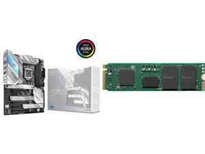 ASUS ROG STRIX Z590-A GAMING WIFI LGA 1200 Intel Z590 SATA 6Gb/s ATX Intel Motherboard and Intel 670p Series M.2 2280 1TB PCIe NVMe 3.0 x4 QLC Internal Solid State Drive (SSD) SSDPEKNU010TZX1