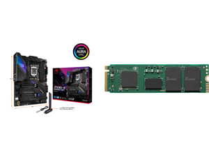 ASUS ROG STRIX Z590-E GAMING WIFI LGA 1200 Intel Z590 SATA 6Gb/s ATX Intel Motherboard and Intel 670p Series M.2 2280 1TB PCIe NVMe 3.0 x4 QLC Internal Solid State Drive (SSD) SSDPEKNU010TZX1