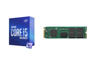Intel Core i5-10600K Comet Lake 6-Core 4.1 GHz LGA 1200 125W BX8070110600K Desktop Processor Intel UHD Graphics 630 and Intel 670p Series M.2 2280 1TB PCIe NVMe 3.0 x4 QLC Internal Solid State Drive (SSD) SSDPEKNU010TZX1