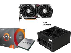 MSI Radeon RX 6700 XT DirectX 12 Ultimate RX 6700 XT GAMING X 12G 12GB 192-Bit GDDR6 PCI Express 4.0 x16 HDCP Ready Video Card and AMD RYZEN 5 3600X 6-Core 3.8 GHz (4.4 GHz Max Boost) Socket AM4 95W 100-100000022BOX Desktop Processor and Ro