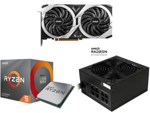 MSI Radeon RX 6700 XT DirectX 12 Ultimate RX 6700 XT MECH 2X 12G OC 12GB 192-Bit GDDR6 PCI Express 4.0 x16 HDCP Ready Video Card and AMD RYZEN 5 3600X 6-Core 3.8 GHz (4.4 GHz Max Boost) Socket AM4 95W 100-100000022BOX Desktop Processor and