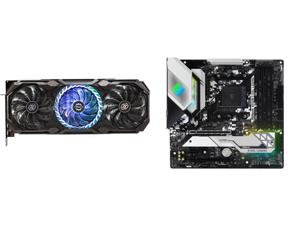 ASRock Radeon RX 6800 XT Taichi Gaming Graphics Card with 16GB GDDR6 AMD RDNA 2 (RX6800XT TCX 16GO) and ASRock B550M STEEL LEGEND AM4 AMD B550 SATA 6Gb/s Micro ATX AMD Motherboard