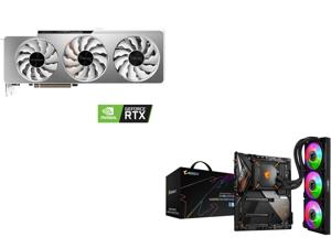 GIGABYTE GeForce RTX 3090 VISION OC 24GB Video Card GV-N3090VISION OC-24GD and GIGABYTE Z490 AORUS MASTER WATERFORCE LGA 1200 Intel Z490 SATA 6Gb/s ATX Intel Motherboard