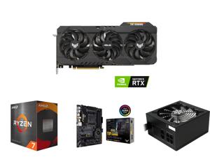 ASUS TUF Gaming GeForce RTX 3090 DirectX 12 TUF-RTX3090-O24G-GAMING 24GB 384-Bit GDDR6X PCI Express 4.0 x16 HDCP Ready SLI Support Video Card and AMD Ryzen 7 5800X 8-Core 3.8 GHz Socket AM4 105W 100-100000063WOF Desktop Processor and ASUS T