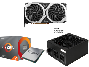 MSI Radeon RX 6700 XT DirectX 12 Ultimate RX 6700 XT MECH 2X 12G OC 12GB 192-Bit GDDR6 PCI Express 4.0 x16 HDCP Ready Video Card and AMD RYZEN 7 3700X 8-Core 3.6 GHz (4.4 GHz Max Boost) Socket AM4 65W 100-100000071BOX Desktop Processor and