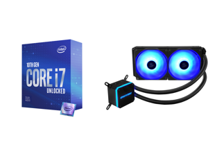 Intel Core i7-10700KF Comet Lake 8-Core 3.8 GHz LGA 1200 125W BX8070110700KF Desktop Processor and Enermax LIQMAX III RGB 240 All-in-one CPU Liquid Cooler for AM4 / LGA1200 240mm Radiator Dual-Chamber Water Block RGB Fan 5 Year Warranty