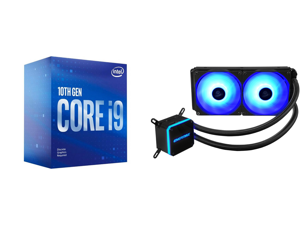 Intel Core i9-10900F Comet Lake 10-Core 2.8 GHz LGA 1200 65W BX8070110900F Desktop Processor and Enermax LIQMAX III RGB 240 All-in-one CPU Liquid Cooler for AM4 / LGA1200 240mm Radiator Dual-Chamber Water Block RGB Fan 5 Year Warranty