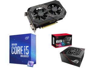 ASUS TUF Gaming GeForce GTX 1660 SUPER Overclocked 6GB Edition HDMI DP DVI Gaming Graphics Card (TUF-GTX1660S-O6G-GAMING) and Intel Core i5-10600K Comet Lake 6-Core 4.1 GHz LGA 1200 125W BX8070110600K Desktop Processor Intel UHD Graphics 63
