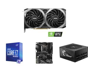 MSI GeForce RTX 3070 DirectX 12 RTX 3070 VENTUS 2X OC 8GB 256-Bit GDDR6 PCI Express 4.0 HDCP Ready Video Card and Intel Core i7-10700K Comet Lake 8-Core 3.8 GHz LGA 1200 125W Desktop Processor w/ Intel UHD Graphics 630 and MSI PRO Z490-A PR