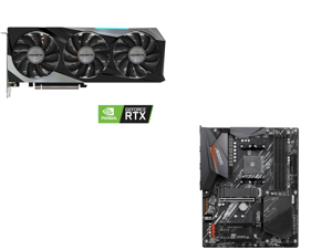 GIGABYTE GeForce RTX 3060 Ti GAMING OC PRO 8GB Video Card GV-N306TGAMINGOC PRO-8GD and GIGABYTE B550 AORUS ELITE AM4 AMD B550 ATX Motherboard with Dual M.2 SATA 6Gb/s USB 3.2 Gen 2 2.5 GbE LAN PCIe 4.0