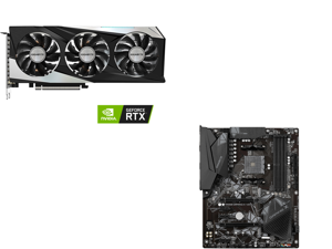 GIGABYTE GeForce RTX 3060 GAMING OC 12G Graphics Card 3 x WINDFORCE Fans 12GB 192-bit GDDR6 GV-N3060GAMING OC-12GD Video Card and GIGABYTE B550 GAMING X V2 AM4 AMD B550 SATA 6Gb/s ATX AMD Motherboard