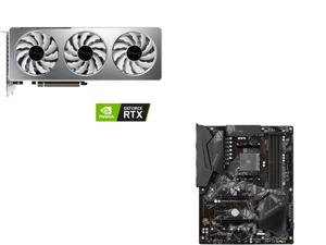 GIGABYTE GeForce RTX 3060 VISION OC 12G Graphics Card 3 x WINDFORCE Fans 12GB 192-bit GDDR6 GV-N3060VISION OC-12GD Video Card and GIGABYTE B550 GAMING X V2 AM4 AMD B550 SATA 6Gb/s ATX AMD Motherboard