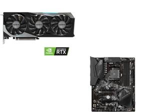 GIGABYTE GeForce RTX 3060 Ti GAMING OC PRO 8GB Video Card GV-N306TGAMINGOC PRO-8GD and GIGABYTE B550 GAMING X V2 AM4 AMD B550 SATA 6Gb/s ATX AMD Motherboard