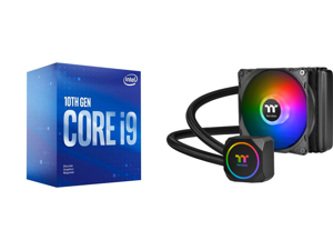 Intel Core i9-10900F Comet Lake 10-Core 2.8 GHz LGA 1200 65W BX8070110900F Desktop Processor and Thermaltake TH120 ARGB Motherboard Sync Edition Intel/AMD All-in-One Liquid Cooling System 120mm High Efficiency Radiator CPU Cooler CL-W285-PL
