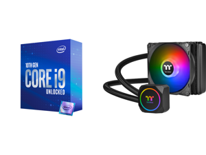 Intel Core i9-10850K Comet Lake 10-Core 3.6 GHz LGA 1200 125W Desktop Processor Intel UHD Graphics 630 - BX8070110850K and Thermaltake TH120 ARGB Motherboard Sync Edition Intel/AMD All-in-One Liquid Cooling System 120mm High Efficiency Radi