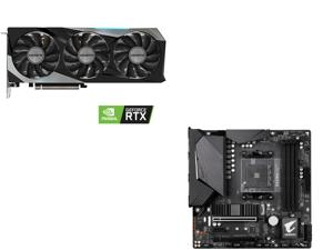 GIGABYTE GeForce RTX 3060 Ti GAMING OC PRO 8GB Video Card GV-N306TGAMINGOC PRO-8GD and GIGABYTE B550M AORUS PRO AM4 AMD B550 Micro-ATX Motherboard with Dual M.2 SATA 6Gb/s USB 3.2 Gen 2 PCIe 4.0