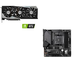 GIGABYTE GeForce RTX 3060 Ti GAMING OC PRO 8G (rev 2.0) Graphics Card WINDFORCE 3x Cooling System 8GB 256-bit GDDR6 GV-N306TGAMINGOC PRO-8GD Video Card and GIGABYTE B550M AORUS PRO AM4 AMD B550 Micro-ATX Motherboard with Dual M.2 SATA 6Gb/s