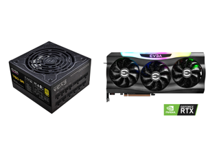 EVGA SuperNOVA 750 GA 80 Plus Gold 750W Fully Modular Eco Mode 10 Year Warranty Includes Power ON Self Tester Compact 150mm Size Power Supply 220-GA-0750-X1 and EVGA GeForce RTX 3070 FTW3 ULTRA GAMING Video Card 08G-P5-3767-KR 8GB GDDR6 iCX