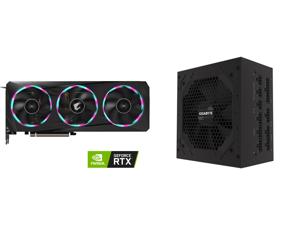 GIGABYTE AORUS GeForce RTX 3060 ELITE 12G Graphics Card 3 x WINDFORCE Fans 12GB 192-bit GDDR6 GV-N3060AORUS E-12GD Video Card and GIGABYTE P750GM 750W ATX 12V v2.31 80 PLUS GOLD Certified Full Modular Active PFC Power Supply