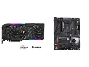 GIGABYTE AORUS Radeon RX 6800 MASTER 16G Graphics Card MAX-COVERED Cooling 16GB 256-bit GDDR6 GV-R68AORUS M-16GD Video Card and GIGABYTE X570 AORUS PRO WIFI AMD Ryzen 3000 PCIe 4.0 SATA 6Gb/s USB 3.2 AMD X570 ATX Motherboard
