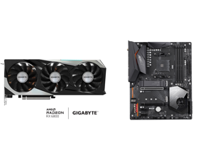 GIGABYTE Radeon RX 6800 GAMING OC 16G Graphics Card WINDFORCE 3X Cooling System 16GB 256-bit GDDR6 GV-R68GAMING OC-16GD Video Card Powered by AMD RDNA 2 HDMI 2.1 and GIGABYTE X570 AORUS ELITE WIFI AM4 AMD X570 SATA 6Gb/s ATX AMD Motherboard