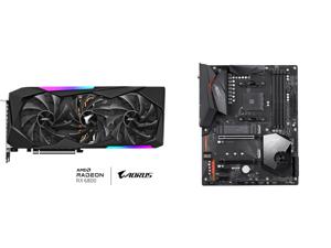 GIGABYTE AORUS Radeon RX 6800 MASTER 16G Graphics Card MAX-COVERED Cooling 16GB 256-bit GDDR6 GV-R68AORUS M-16GD Video Card and GIGABYTE X570 AORUS ELITE WIFI AM4 AMD X570 SATA 6Gb/s ATX AMD Motherboard