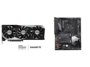 GIGABYTE Radeon RX 6800 XT GAMING OC 16G Graphics Card WINDFORCE 3X Cooling System 16GB 256-bit GDDR6 GV-R68XTGAMING OC-16GD Video Card Powered by AMD RDNA 2 HDMI 2.1 and GIGABYTE X570 AORUS ELITE WIFI AM4 AMD X570 SATA 6Gb/s ATX AMD Mother