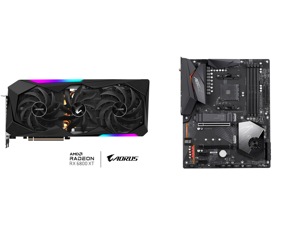 GIGABYTE AORUS Radeon RX 6800 XT MASTER TYPE C 16G Graphics Card 16GB GDDR6 Memory Powered by AMD RDNA 2 HDMI 2.1 USB Type-C MAX-COVERED Cooling GV-R68XTAORUS M-16GC and GIGABYTE X570 AORUS ELITE WIFI AM4 AMD X570 SATA 6Gb/s ATX AMD Motherb