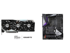 GIGABYTE Radeon RX 6800 XT GAMING OC 16G Graphics Card WINDFORCE 3X Cooling System 16GB 256-bit GDDR6 GV-R68XTGAMING OC-16GD Video Card Powered by AMD RDNA 2 HDMI 2.1 and GIGABYTE B550 AORUS MASTER AM4 AMD B550 ATX Motherboard with Triple M
