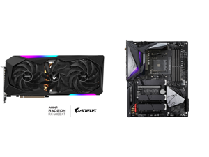 GIGABYTE AORUS Radeon RX 6800 XT MASTER TYPE C 16G Graphics Card 16GB GDDR6 Memory Powered by AMD RDNA 2 HDMI 2.1 USB Type-C MAX-COVERED Cooling GV-R68XTAORUS M-16GC and GIGABYTE B550 AORUS MASTER AM4 AMD B550 ATX Motherboard with Triple M.