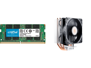 Crucial 8GB 260-Pin DDR4 SO-DIMM DDR4 2666 (PC4 21300) Laptop Memory Model CT8G4SFRA266 and Cooler Master Hyper 212 EVO V2 CPU Air Cooler with SickleFlow 120 PWM Fan Direct Contact Technology 4 copper Heat Pipes for AMD Ryzen/Intel LGA1200/