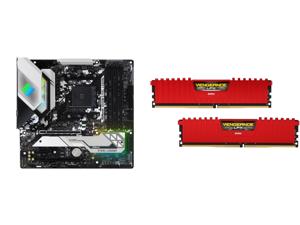 ASRock B550M STEEL LEGEND AM4 AMD B550 SATA 6Gb/s Micro ATX AMD Motherboard and CORSAIR Vengeance LPX 32GB (2 x 16GB) 288-Pin DDR4 SDRAM DDR4 3600 (PC4 28800) Desktop Memory Model CMK32GX4M2D3600C18R
