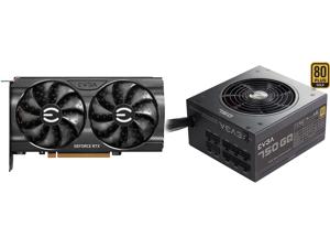 EVGA GeForce RTX 3060 XC GAMING 12G-P5-3657-KR 12GB GDDR6 Dual-Fan Metal Backplate and EVGA 750 GQ 210-GQ-0750-V1 80+ GOLD 750W Semi Modular EVGA ECO Mode Power Supply